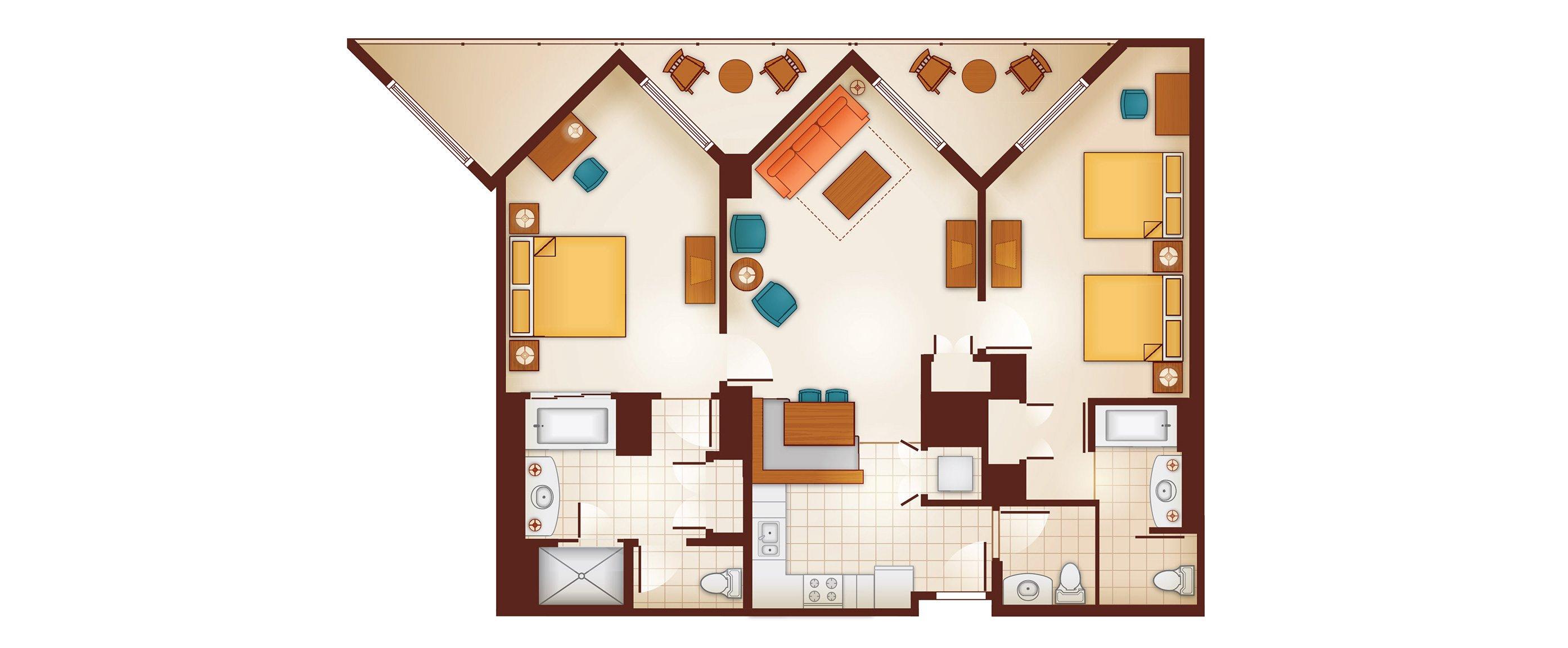 bedroom floor planner aulani two bedroom villa milesgeek